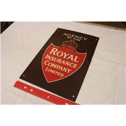 Agency Of The Royal Insurance Company Porcelain Sign