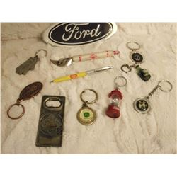 Misc Ad Items (Ford, Shell, John Deere, Coleman, BMW, Etc;)