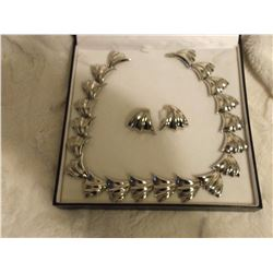 Fifth Ave. Silver Necklace Set In Original Box