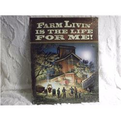 "Farm Life Metal Sign (12""x16"")"