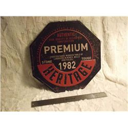 Heritage Tools Metal Sign