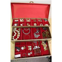 Estate Jewellery& Large Box (Many 1940-50 Pieces)