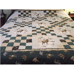 Hand Stitched Wildlife Quilt (Queen Size)