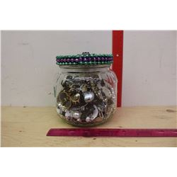 Jar Of Jewellery (For Crafts or Play)