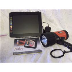Kodak Digital Frame& A Black And Decker Flashlight