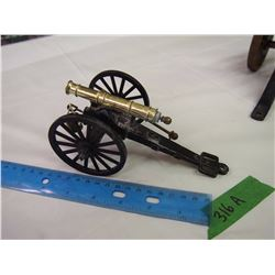 Vintage Metal Toy Cannon