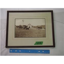 Framed Vintage Farm Photo