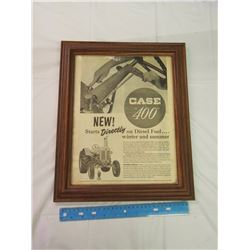 Framed 400 Case Advertisement