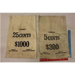 Royal Canadian Mint 5 Cents& 25 Cents Money Bags