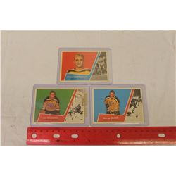 T.C.G Hockey Cards(3)(Murray Oliver, Orland Kurtenback, Ed Johnston)