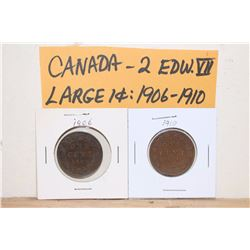 1906&1910 Canada Large 1 Cent Coins