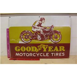 """Good Year Motorcycle Porcelain Reproduction Sign (24""""x17"""")"""