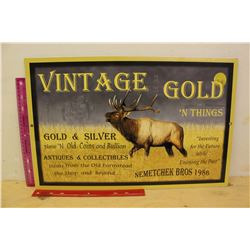 """Double Sided Vintage Gold 'N Things' Sign (22""""x14.5"""")"""