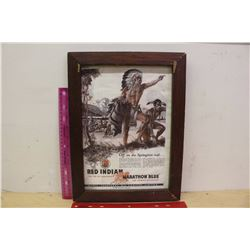 Framed Red Indian Magazine Advertisement (Dated April 1935)