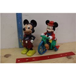 Two Vintage Mickey Mouse Toys