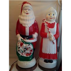 Mr&Mrs Claus Outdoor Decorations (Hard Plastic)(Working)