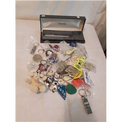 Key Chains And Calligraphy Pen w/Inks& Case