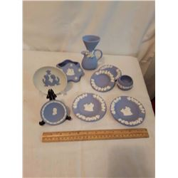 Lot of Blue&White Wedgewood Style Pieces