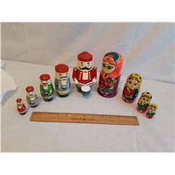 Wooden Stacking Dolls (2 Sets)