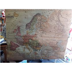 1909 Canvas Map of Europe
