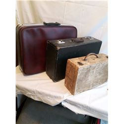 Two Vintage Suitcases& A Sample Case