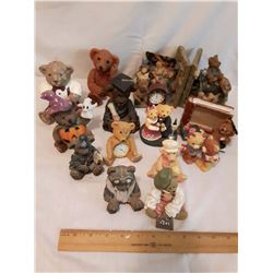 Lot of Ceramic Teddy Bear Collectibles