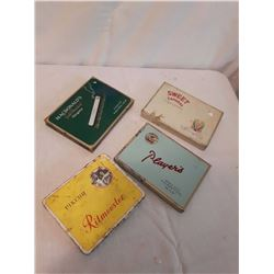 Cigarette Tins (4)(1950's)(Ritmeester, Macdonald, Players, Sweet Caporal)