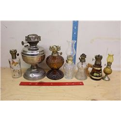 Lot of Small Vintage Oil Lamps