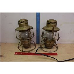 Pair of C.N.R Lanterns