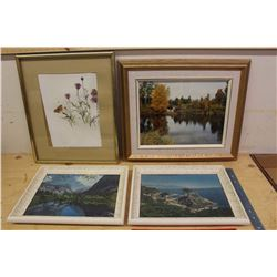 Lot of Frames w/Pictures/Art (4)