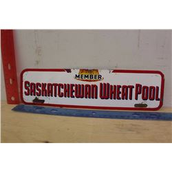 Saskatchewan Wheat Pool Porcelain Sign