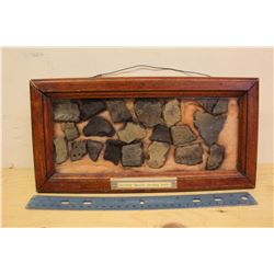 Pottery Shards In Display Case (Central Sask)