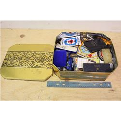 Large Lot of Small Collectibles In Tin