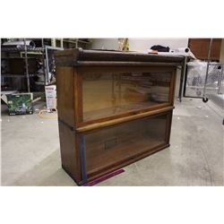 Oak Book Display Case (2 Sections)