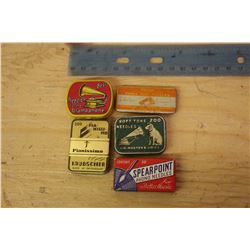 Phonograph Needle Tins (5)(1 Paper)
