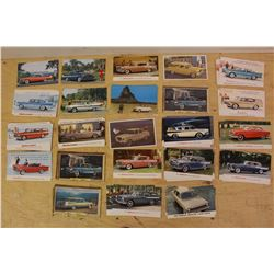 Lot of Vintage Car Showroom Advertising Post Cards