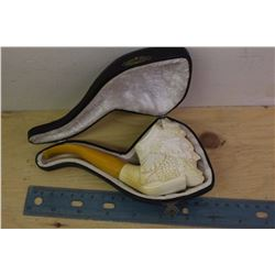 Meerschaum Pipe In Original Case