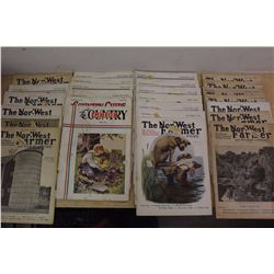 Lot Of 1930's Country Guides And Nor-West Farmer Magazines