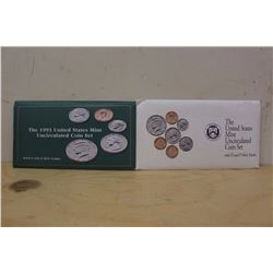 1992 And 93 US Uncirculated Coin Sets, Both P+D Mints