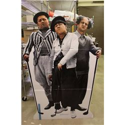 """Three Stooges Stand Up Cardboard Advertisement(67"""" Tall)"""