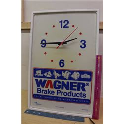 Advertising Wagner Brake Products Clock, Plastic, Working