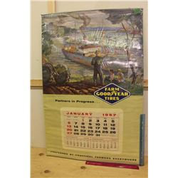Farm Goodyear Tires 1957 Calendar