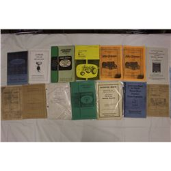 Lot OF Tractor Operator Manuals