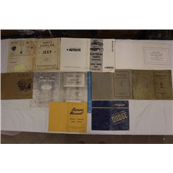 1920's And Other Assorted Chrysler And Dodge Manuals