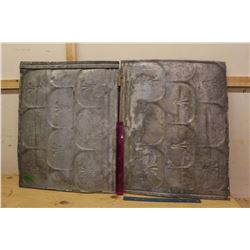 Pair Of Tin Roofing Panels