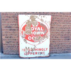 """1961 Royal Crown Cola 'Refreshingly Different' Sign(48""""x35.5"""")"""