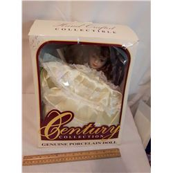 Hand Crafted Century Collection Genuine Porcelain Doll