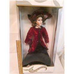 "Timeless Treasures Genuine 18"" Porcelain Doll w/Stand"