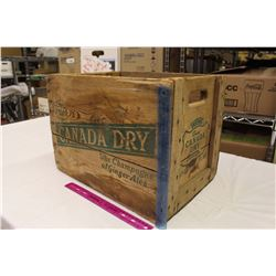 "Canada Dry Wooden Crate (17""x13.5""x12"")"