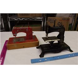 Little Vintage Sewing Machines (2)(1 Marked Sewmaster)